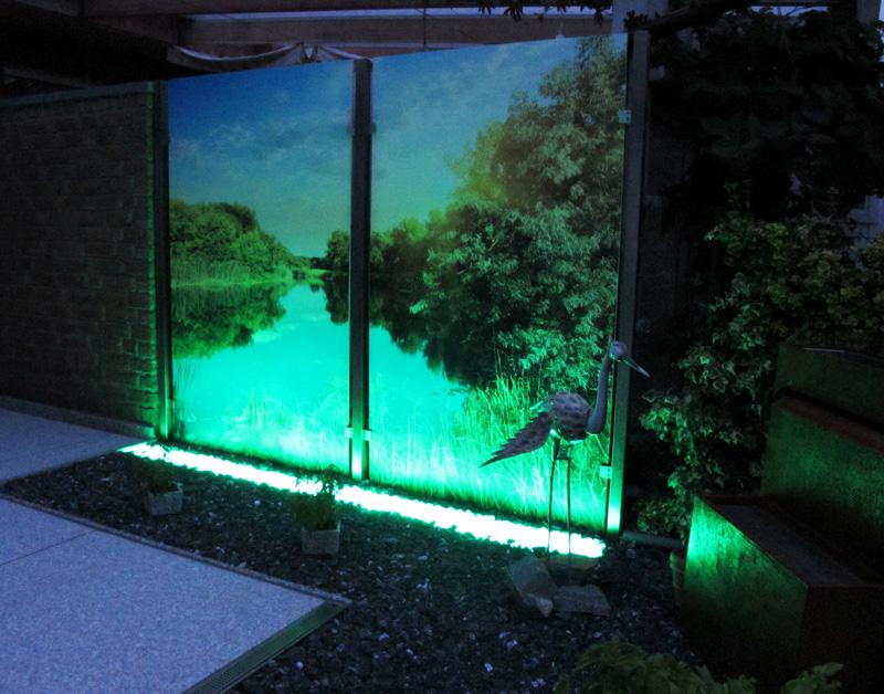 gabionen beleuchtung gabionen led licht mit einer. Black Bedroom Furniture Sets. Home Design Ideas